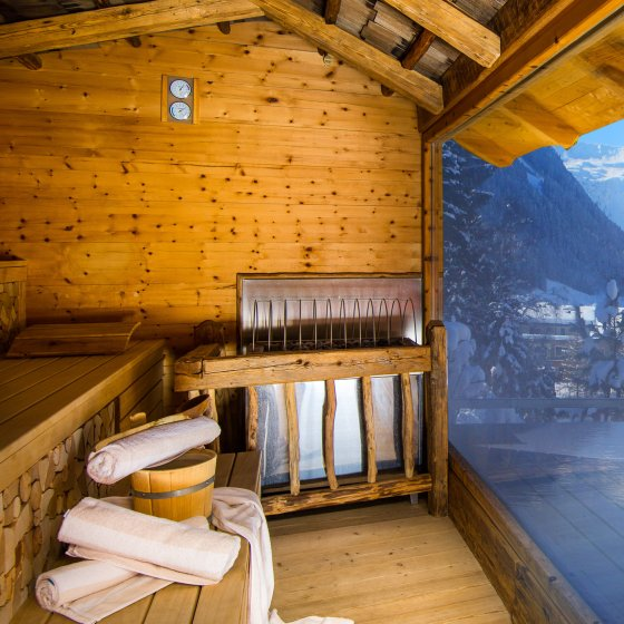 Saalbach Hinterglemm wellness Hotel Alpin outdoor sauna