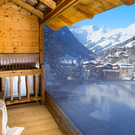 saalbach hinterglemm wellnesshotel alpin juwel sauna winter